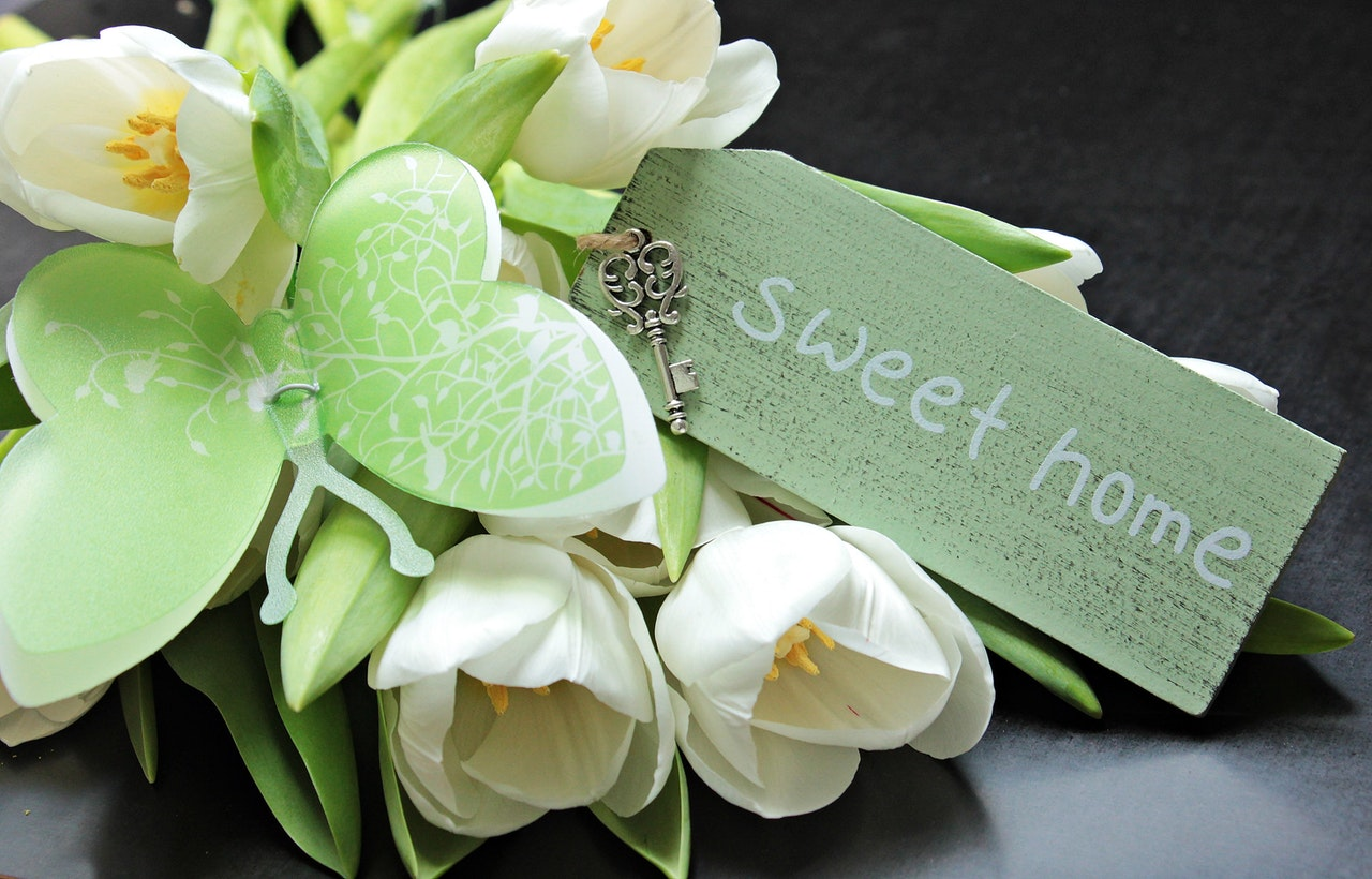 Floral_home sweet_home staging