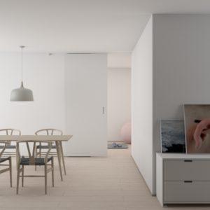 mono tone house interior